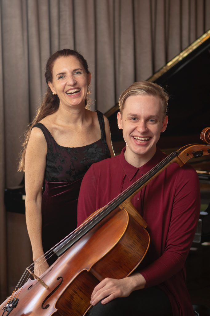 Elyane Laussade and Luke Severn performing at the Brunswick Beethoven Festival  2020